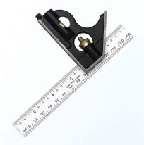 "Fisher Combination Square - English & Metric Markings - 6""/150mm"